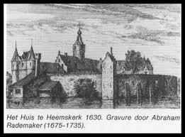Het huis te Heemskerk omstreeks 1630